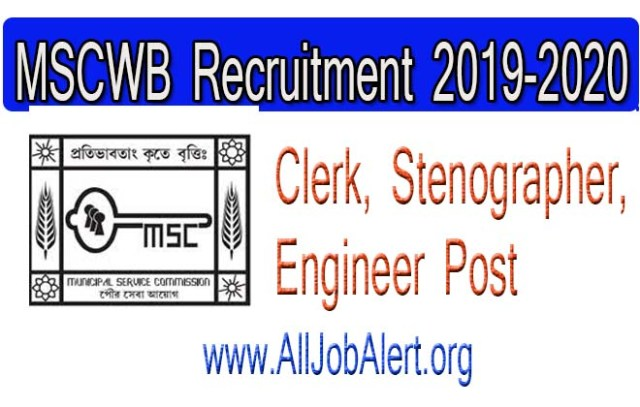MSCWB Assistant Engineer Jobs 2019
