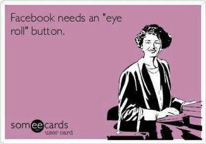 facebook eyeroll