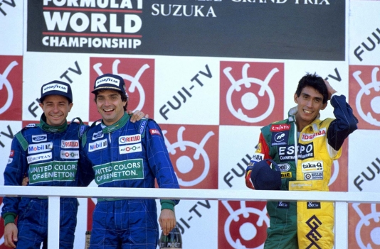 O momento mais emocionante da carreira de Roberto foi ao lado de Piquet: a dobradinha no GP do Japão de 1990, em Suzuka (Foto: WRI)