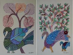 Birds Gond Paintings