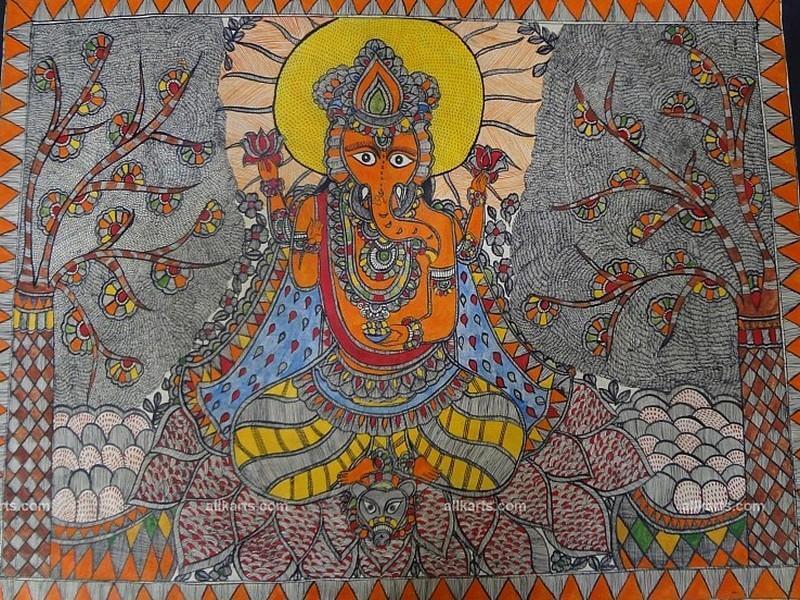 Madhubani Ganesha Painting