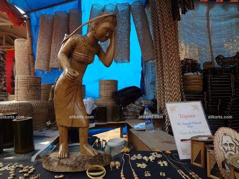 Carved Bamboo Female Figure