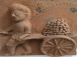Molela Terracotta Plaque of Cart Puller