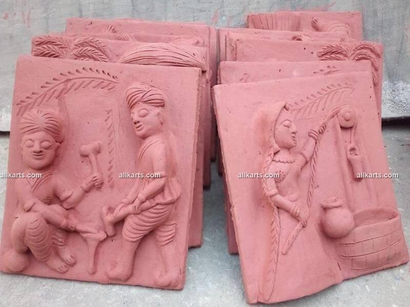 Molela Terracotta Plaques of Rural Life