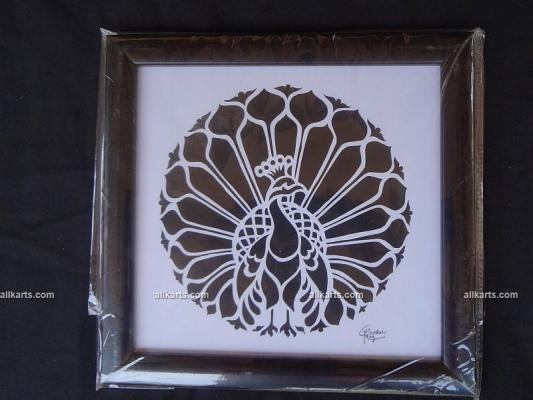 Peacock Sanjhi Art Wall Hanging