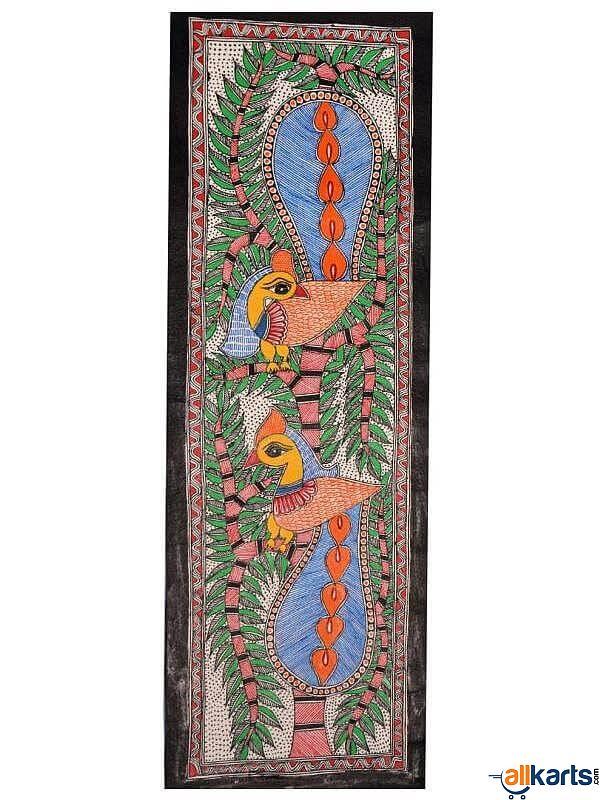 Madhubani Painting of Peacocks