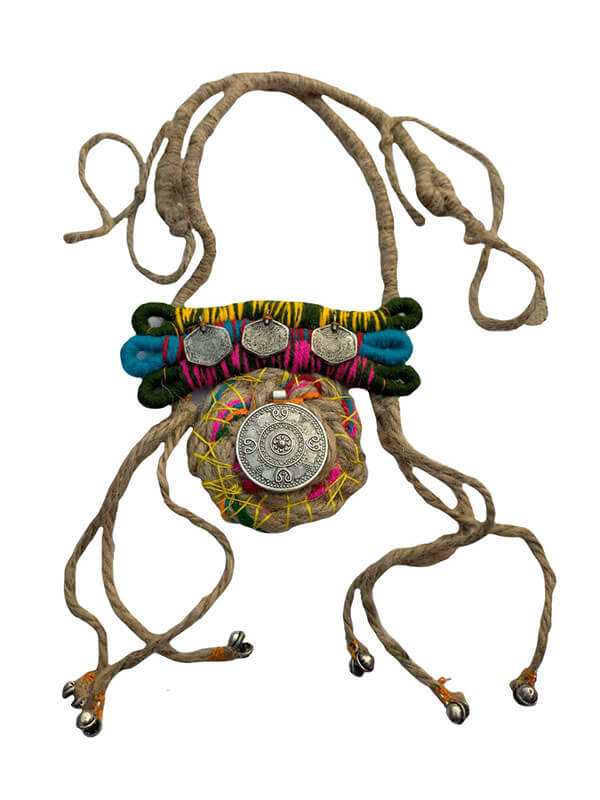 Handmade Jute Necklace with German Silver