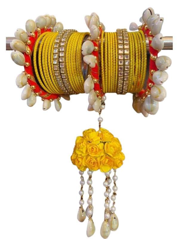 Silk Thread and Kori Beads Bangles