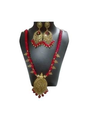 Antique Glass Beads Jewellery Set