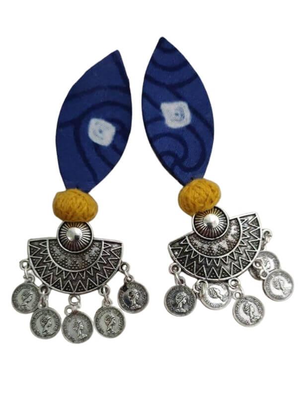 Oxidized Fabric Earrings