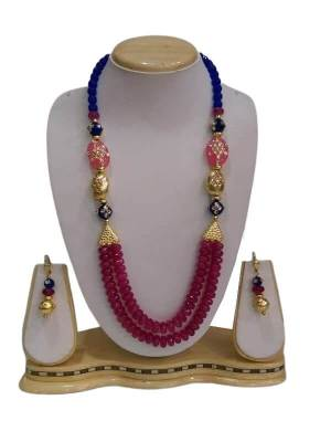 Crystal Glass and Antique Beads Jewellery Set