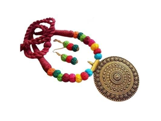 Antique Cotton Balls Jewellery Set