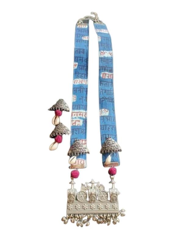 Oxidized Indigo Jewellery Set