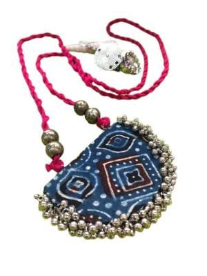 Oxidized Fabric Jewellery Set