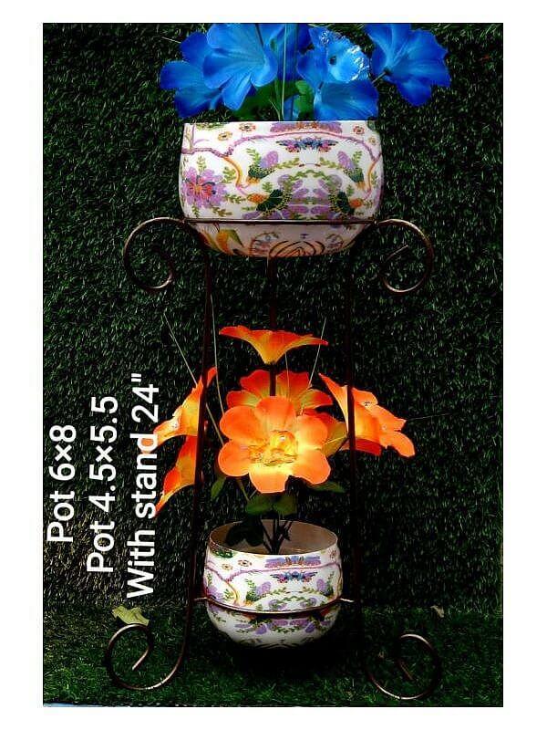 Iron Pots with Meenakari Work