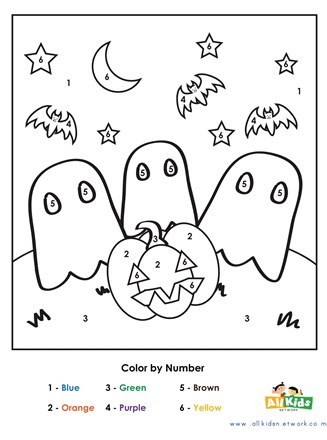 Halloween Color By Number All Kids Network