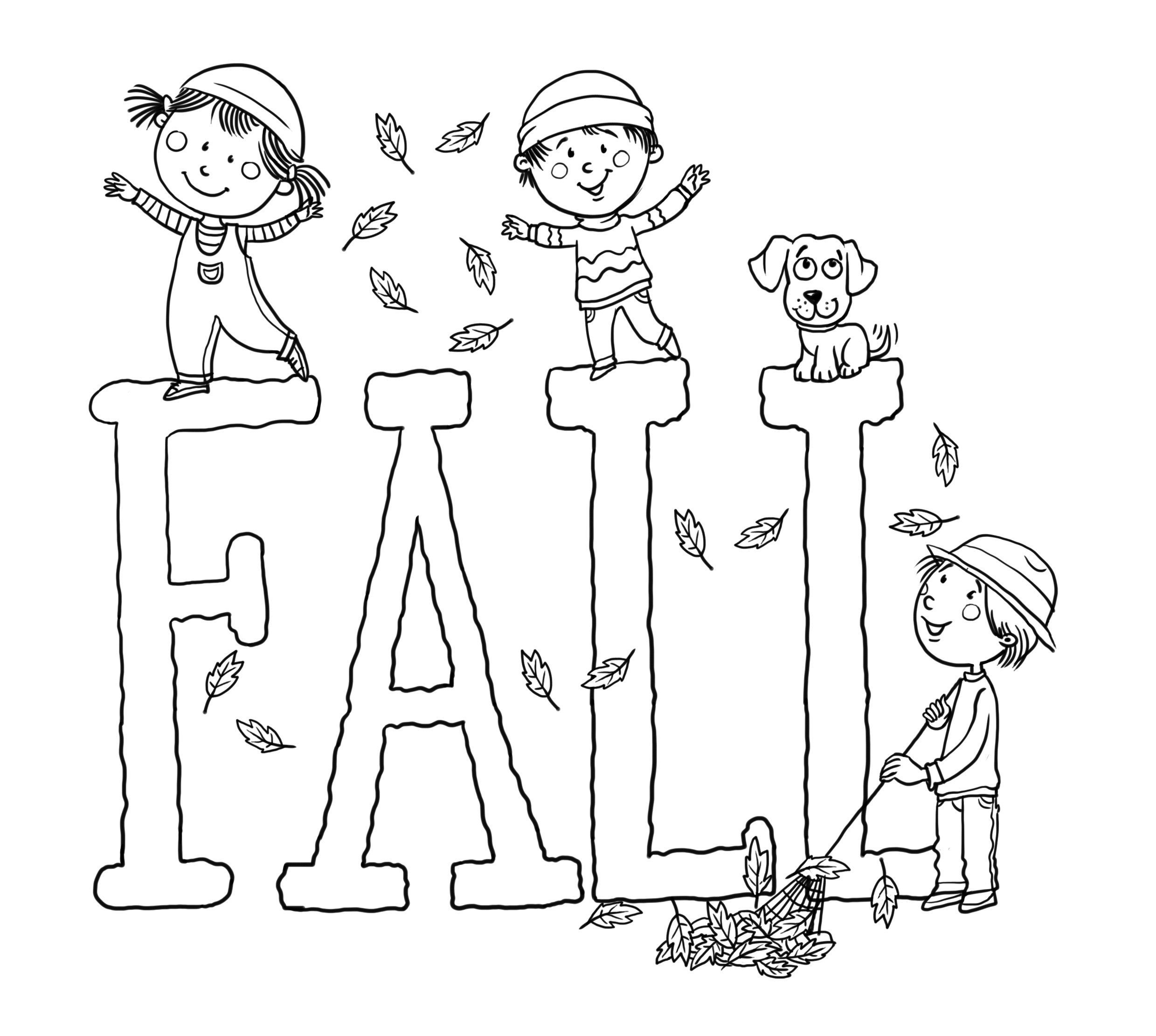 Fall Coloring Page
