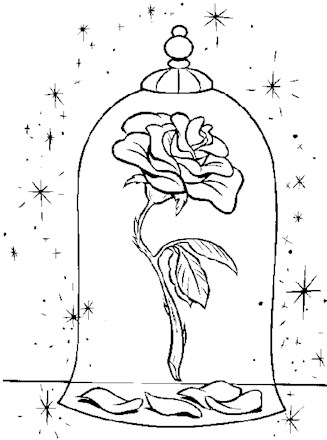 Beauty And The Beast Coloring Page Beauty And The Beast Rose All Kids Network