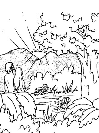 Bible Coloring Page Adam Eve All Kids Network