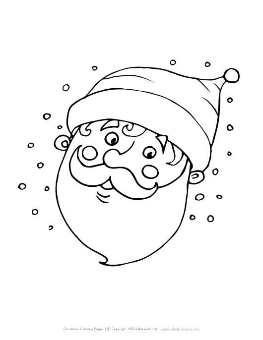 santa face coloring page hicoloringpages