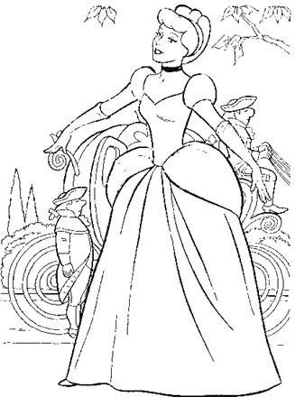 Cinderella Coloring Page Cinderella Coloring All Kids Network