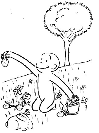 Curious George Coloring Page Color Curious George All Kids Network