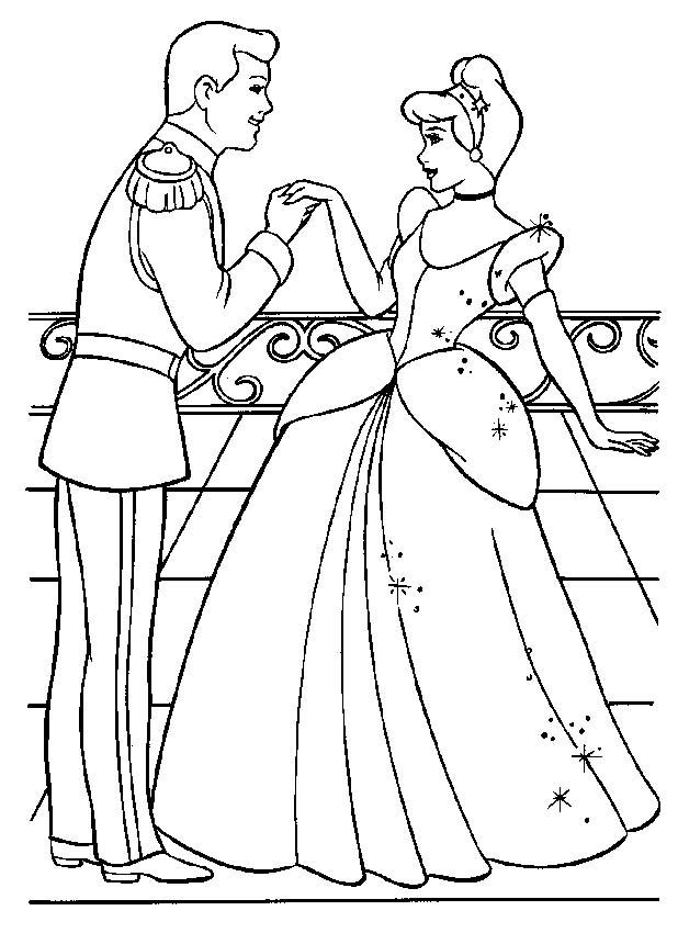 princess coloring page coloring princess cinderella 2 all kids