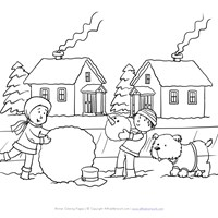 winter coloring pages print winter pictures to color all kids