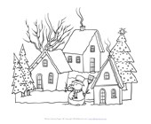 Winter Coloring Pages Print Winter Pictures To Color All Kids Network