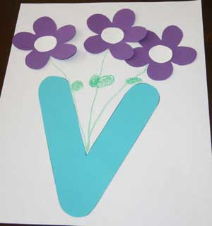 Letter V Vase Craft All Kids Network