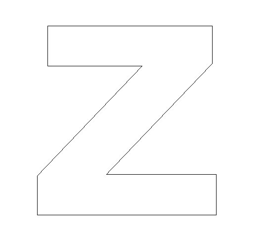 Print Your Letter Z Template