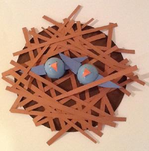 birds in their nest craft