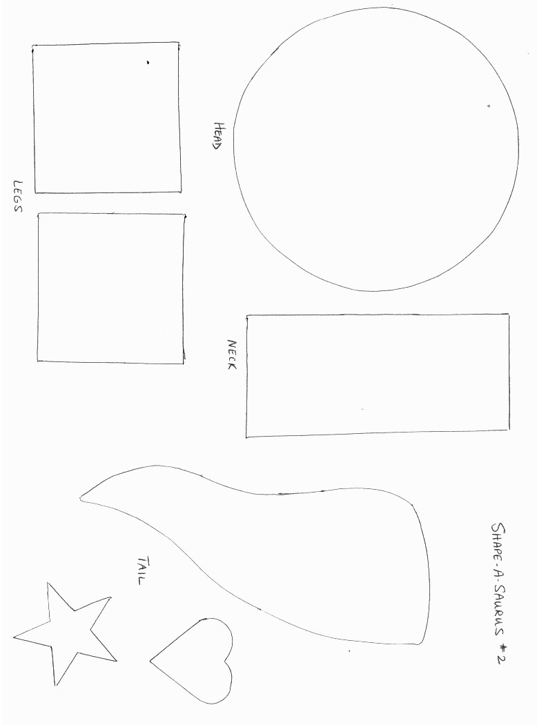 dinosuarss crafts print your shape dinosaur template 2 all kids