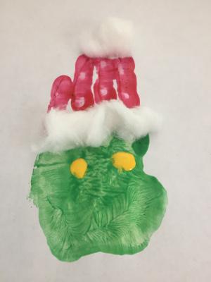 Handprint Grinch Craft All Kids Network