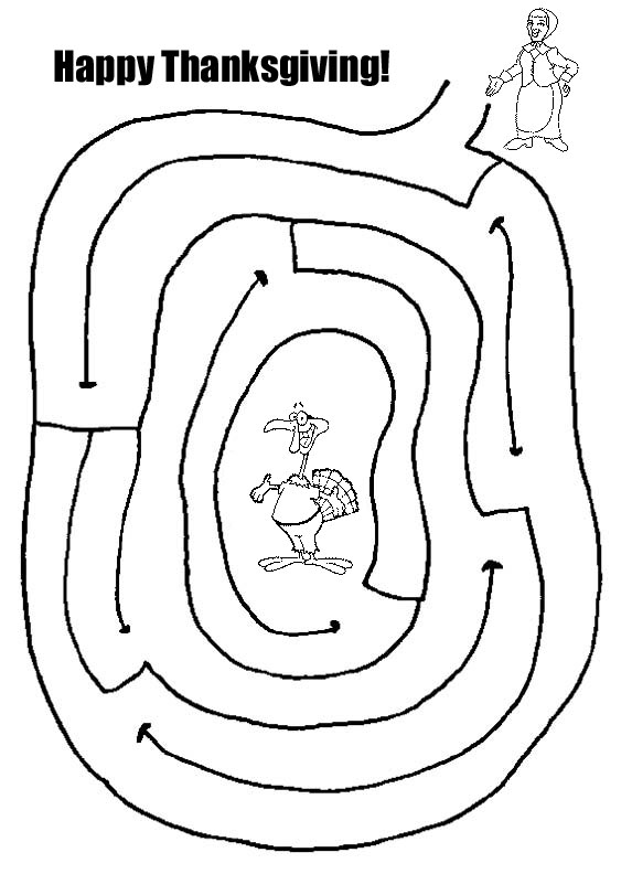 Easy Thanksgiving Maze