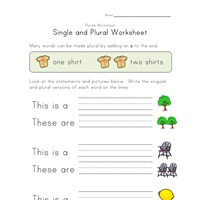 8 Great Free Plural Worksheets