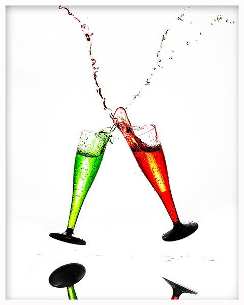 Party Glas Artwork Allmie Bernau Produktfoto