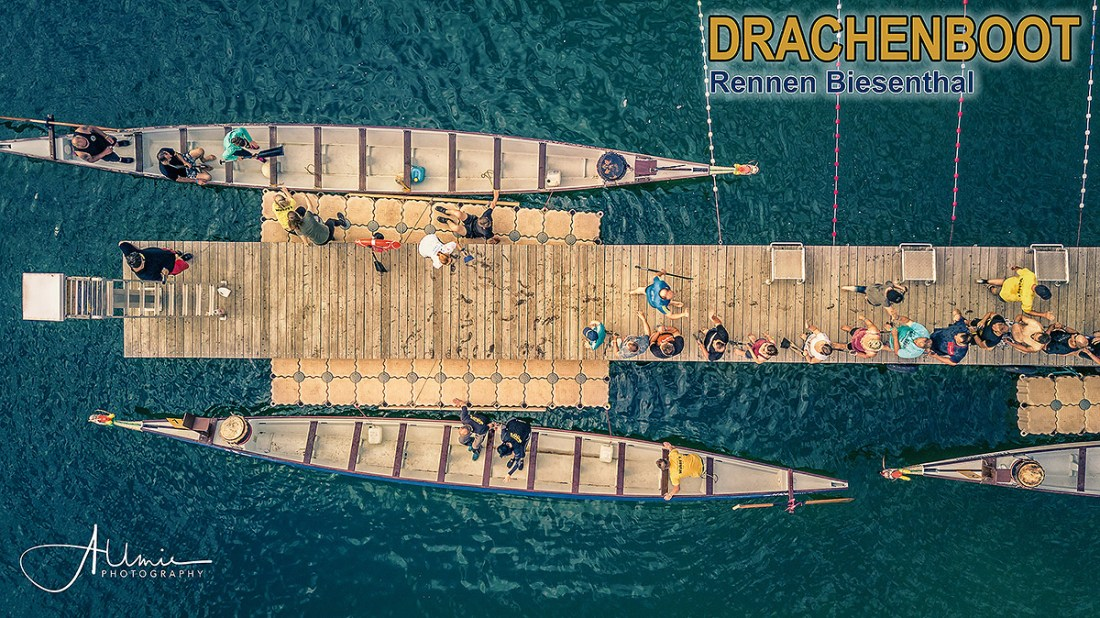 Luftbild Drachenboot Rennen Biesenthal Allmie