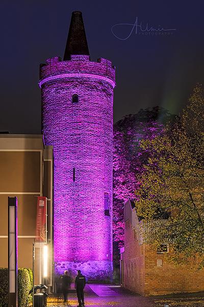 Bernau bei Berlin leuchtet Nachtfoto Allmie