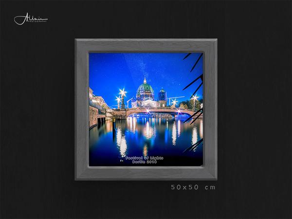 Festival of Light Berliner Dom Wandposter 50 x 50 Allmie