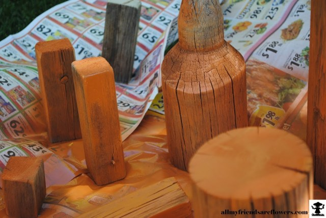 Fall Crafts, Wooden Pumpkins