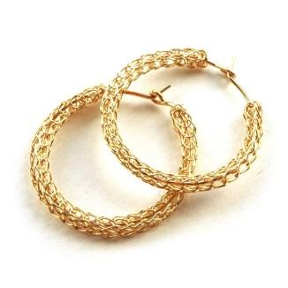 vintage hoop earrings gold