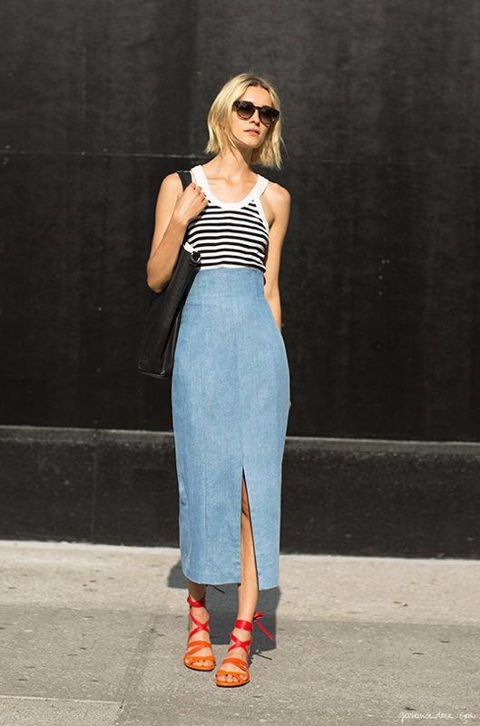 long skirt denim