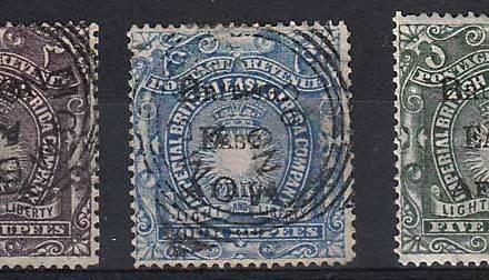 British East Africa #50-52 trio
