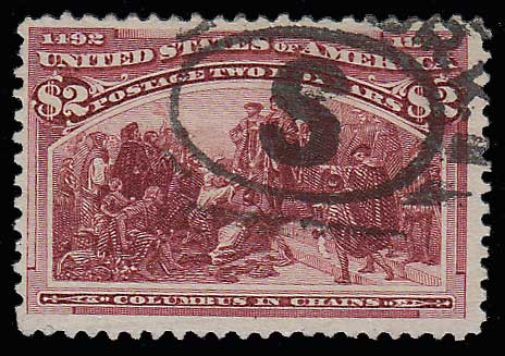 U.S.A. #242 Fine Used 1893 $2 Columbian