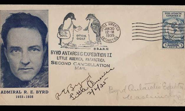 U.S.A. 30 Ja 1935 Admiral Byrd Signed Antarctic Cover cc