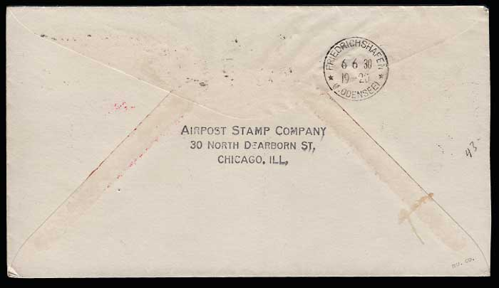U.S.A. #C14 2 Jn 1930 Graf Zeppelin Flight Cover