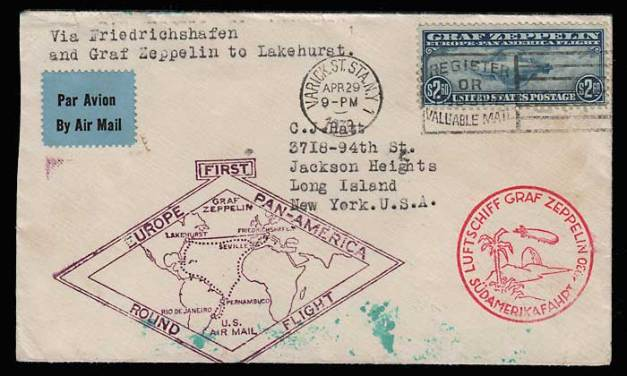 U.S.A. #C15 1930 Graf Zeppelin Flight Cover