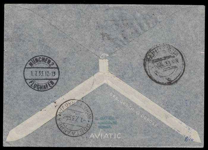 Vatican 1 Jl 1933 scarce Graf Zeppelin Flight Cover to S.A