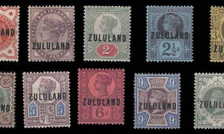Zululand #1-10 gen Fine Mint HR 1888/1893 Set